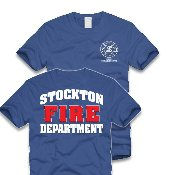Stockton fire department logo screen printed t shirt for T shirt printing stockton ca