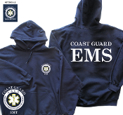 COAST GUARD EMT/PARAMEDIC HOODED SWEATSHIRT