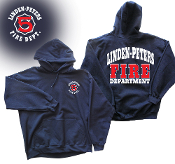 LINDEN PETERS FIRE DEPT. HOODED SWEATSHIRT
